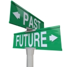 Past and Future - Two-Way Street Sign
